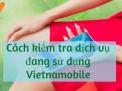 Hướng dẫn cách kiểm tra dịch vụ sim Vietnamobile